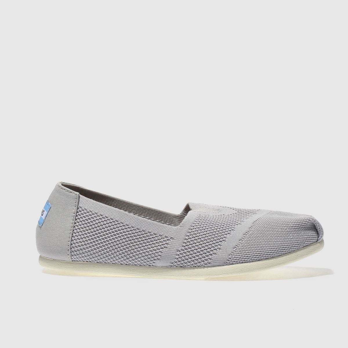 toms light grey seasonal classic custom knit flat shoes