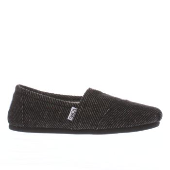 Toms Black & Grey Seasonal Classic Speckle Wool Flats