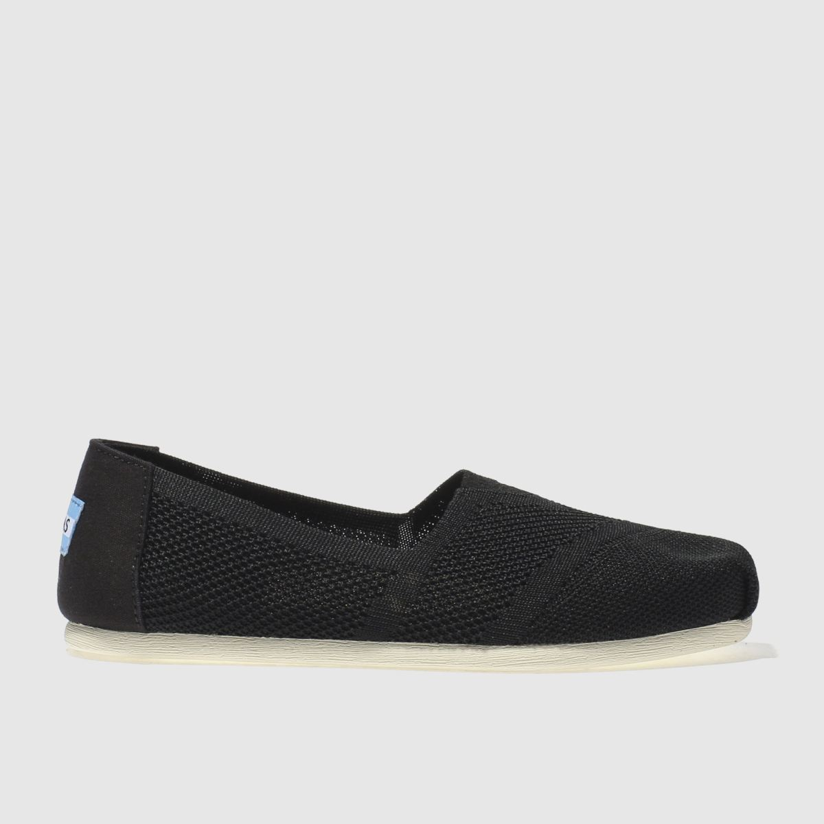 toms black & white seasonal classic custom knit flat shoes