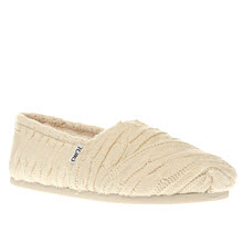 Toms Natural Classic Cable Knit Womens Flats