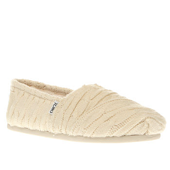 Toms Natural Classic Cable Knit Flats