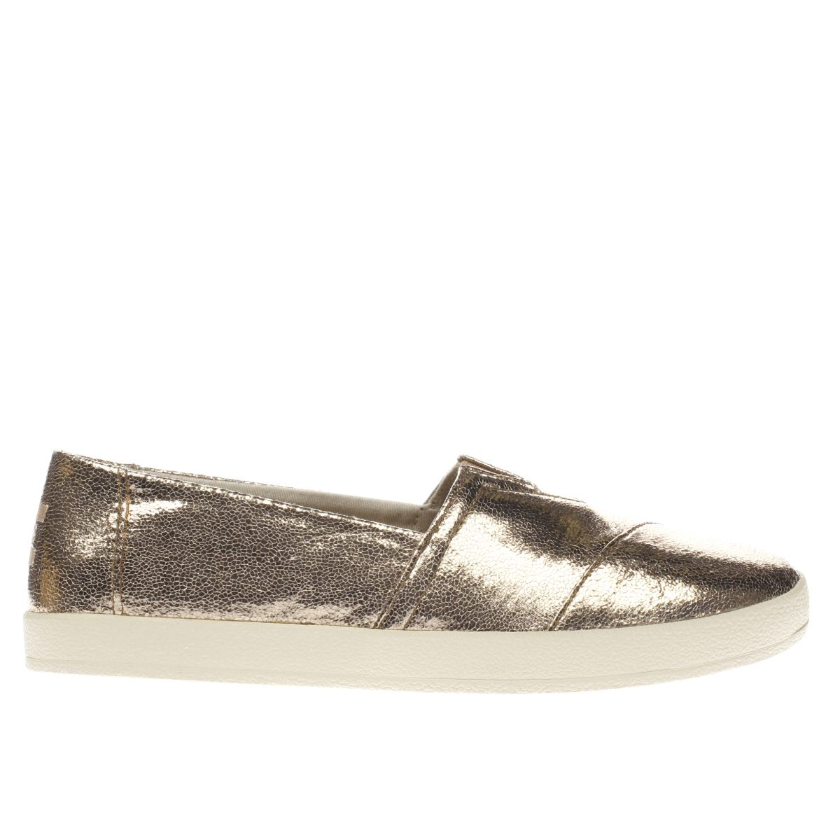 toms rose gold avalon metallic flat shoes