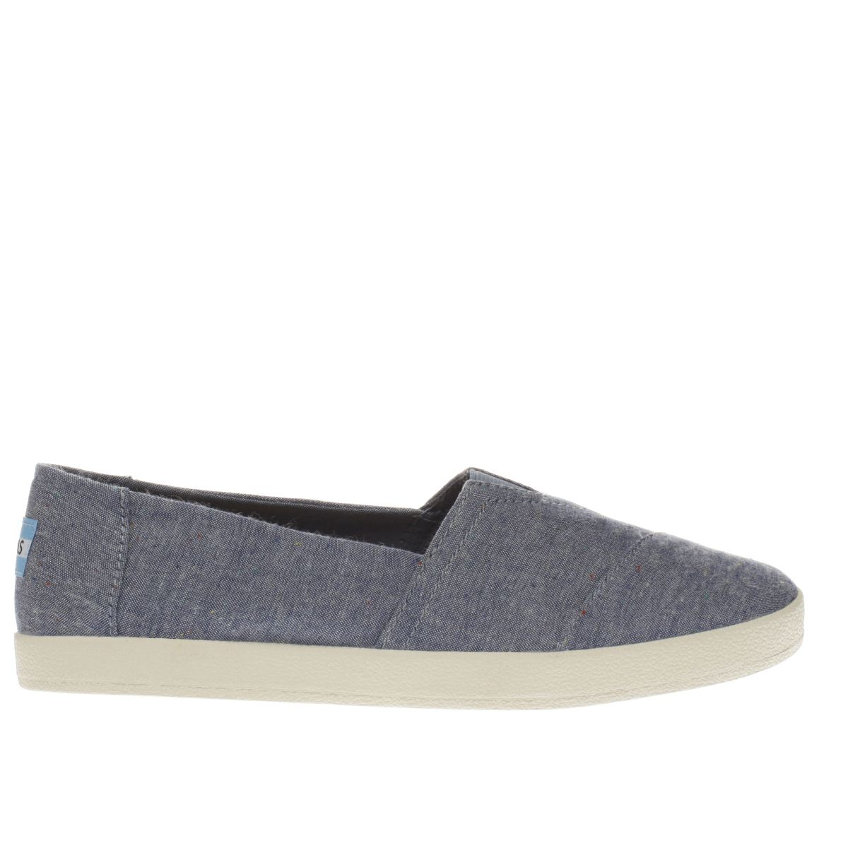 toms navy avalon flat shoes