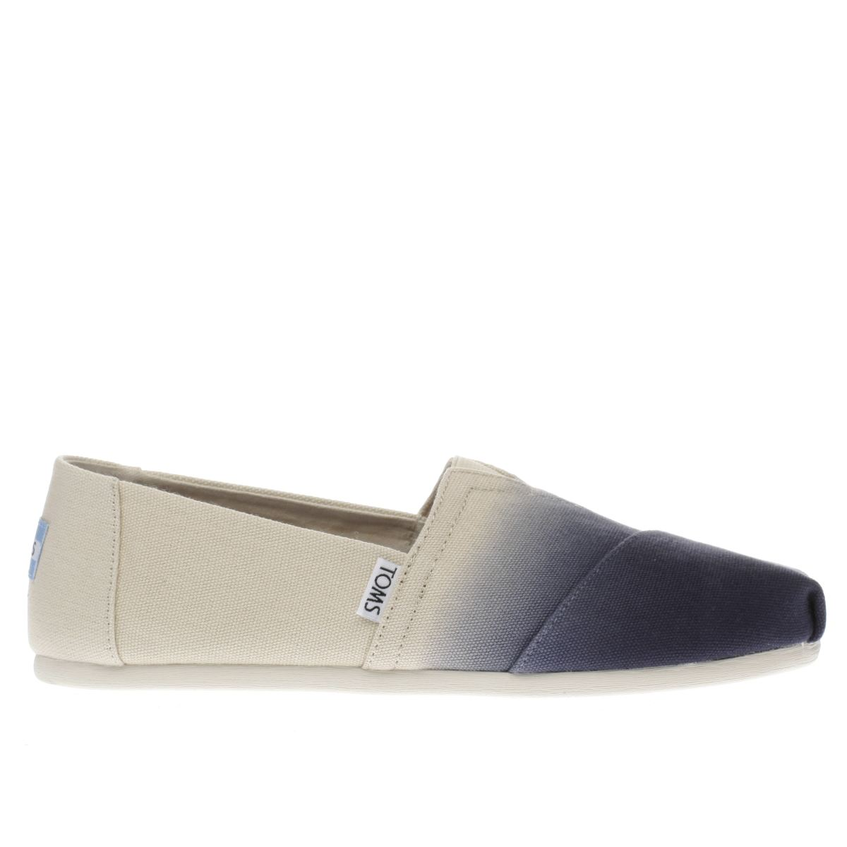 toms navy & stone classic dip dye flat shoes