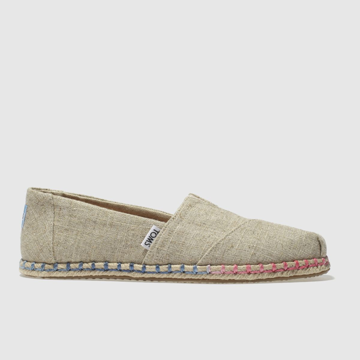 Toms Natural Classic Slip Rope Sole Flat Shoes