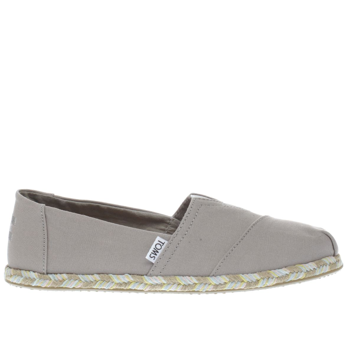 toms grey classic slip rope sole flat shoes