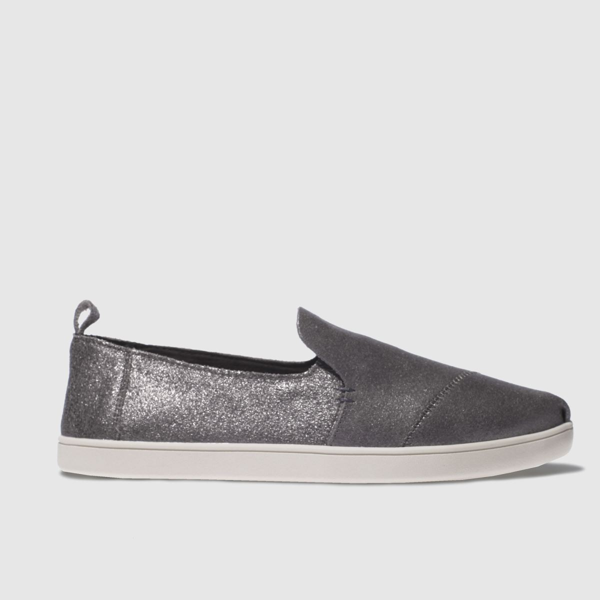 toms pewter deconstructed alpargata flat shoes