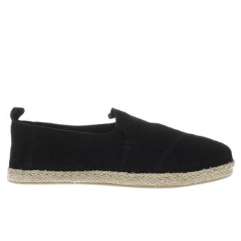 Toms Black Deconstructed Alpargata Womens Flats