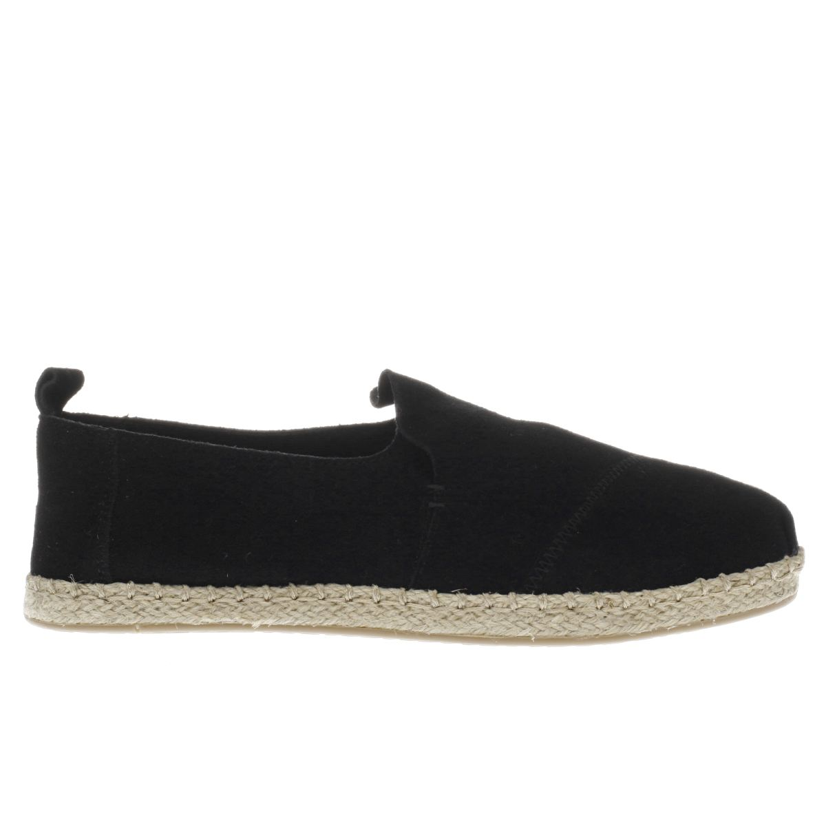 toms black deconstructed alpargata flat shoes