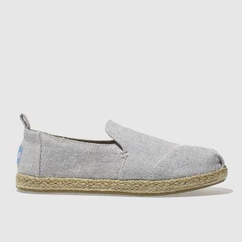 Toms Grey Deconstructed Alpargata Womens Flats