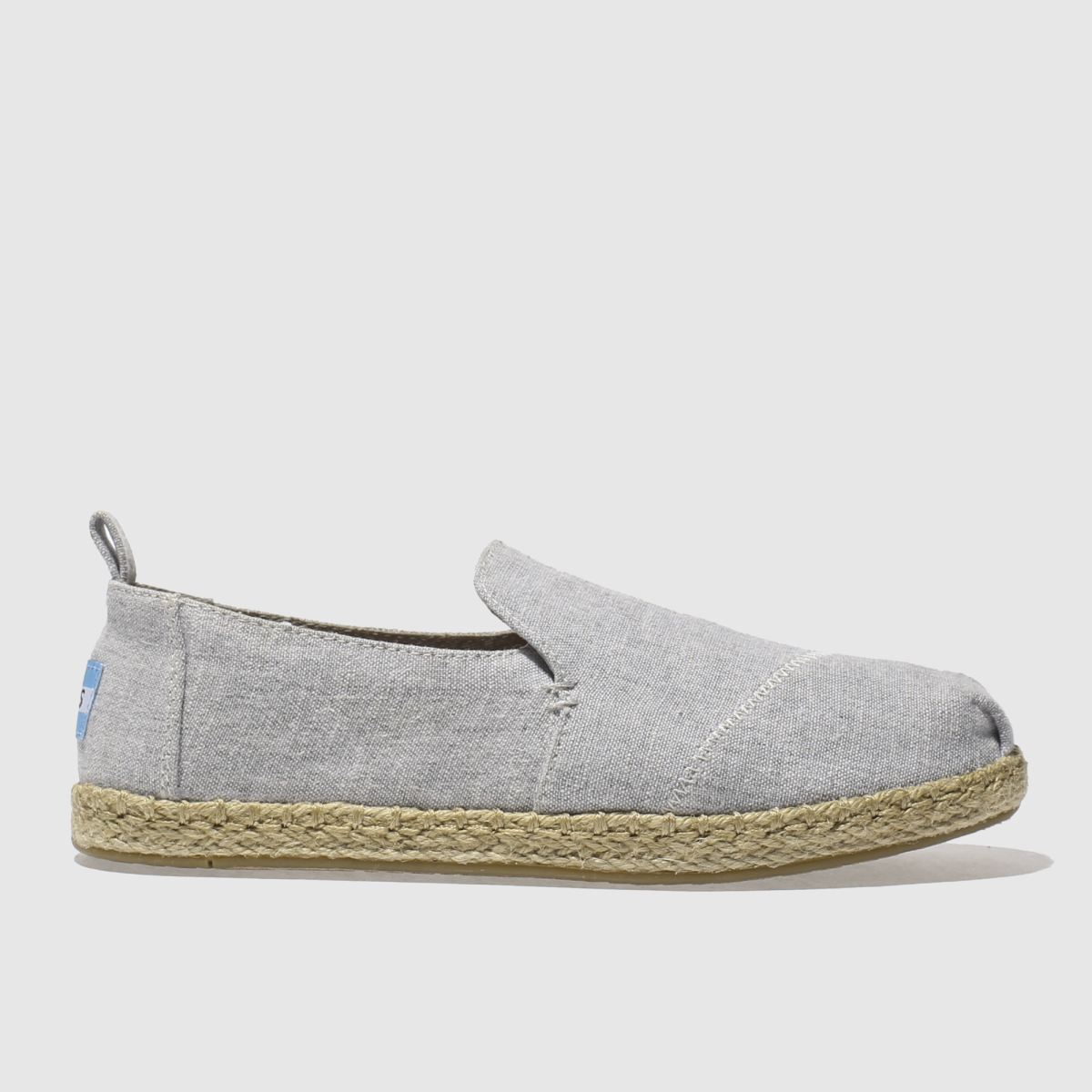toms grey deconstructed alpargata flat shoes