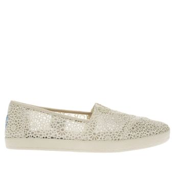 Toms Stone Avalon Crochet Womens Flats