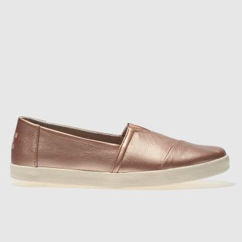 Toms Gold Avalon Womens Flats