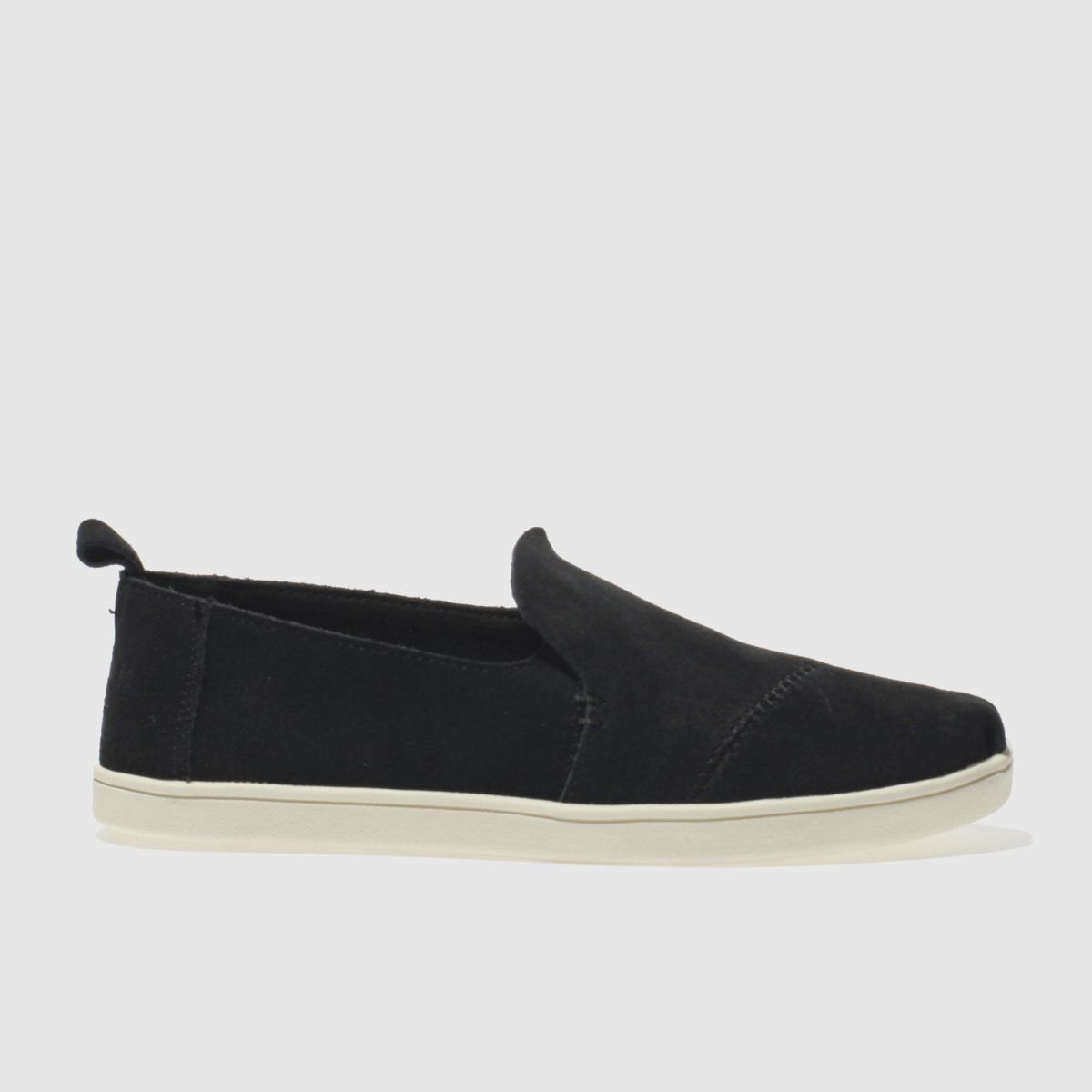 toms black & white deconstructed alpargata flat shoes