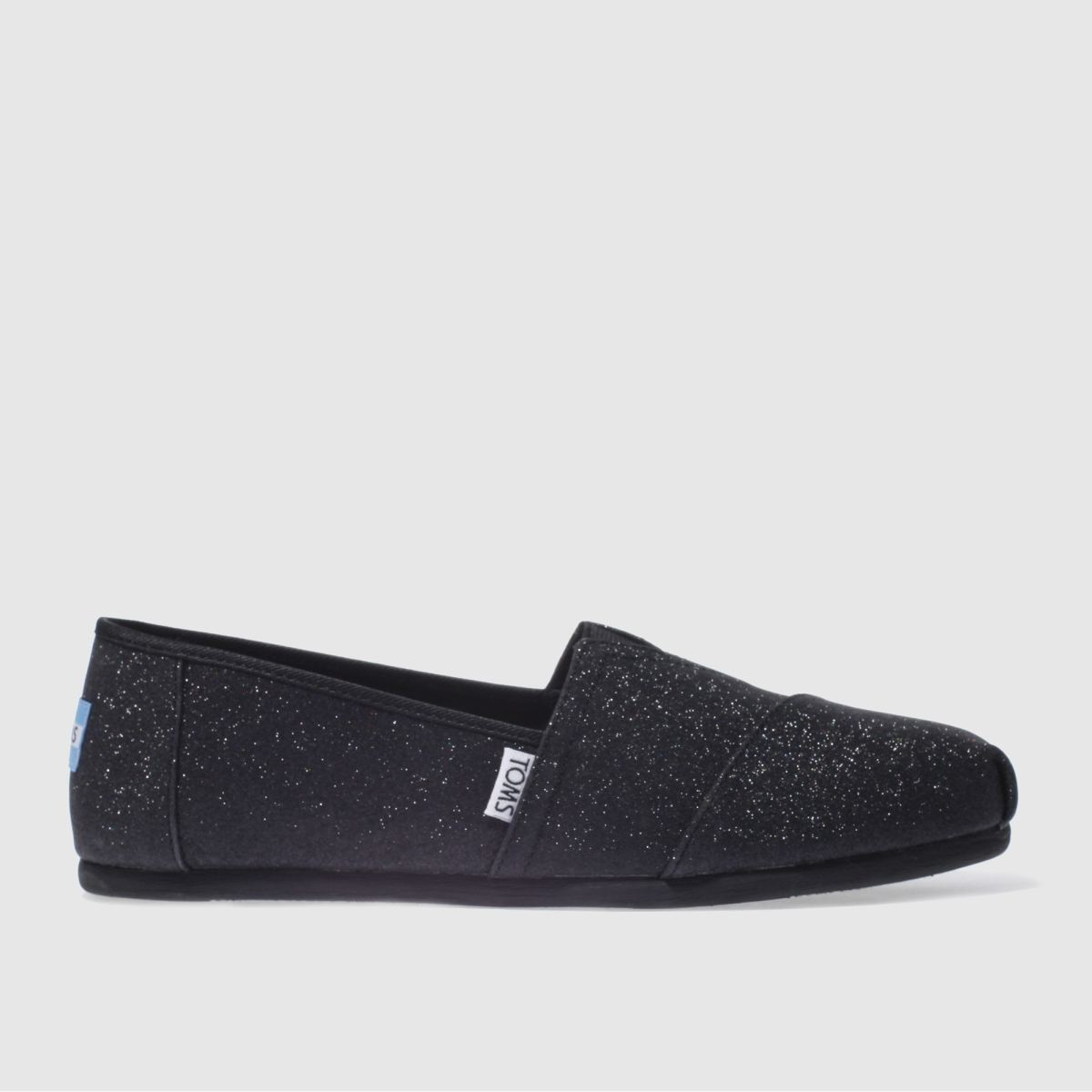 toms black alpargata glimmer flat shoes