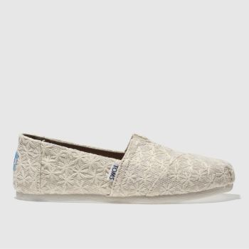 Toms Natural Alpargata Womens Flats