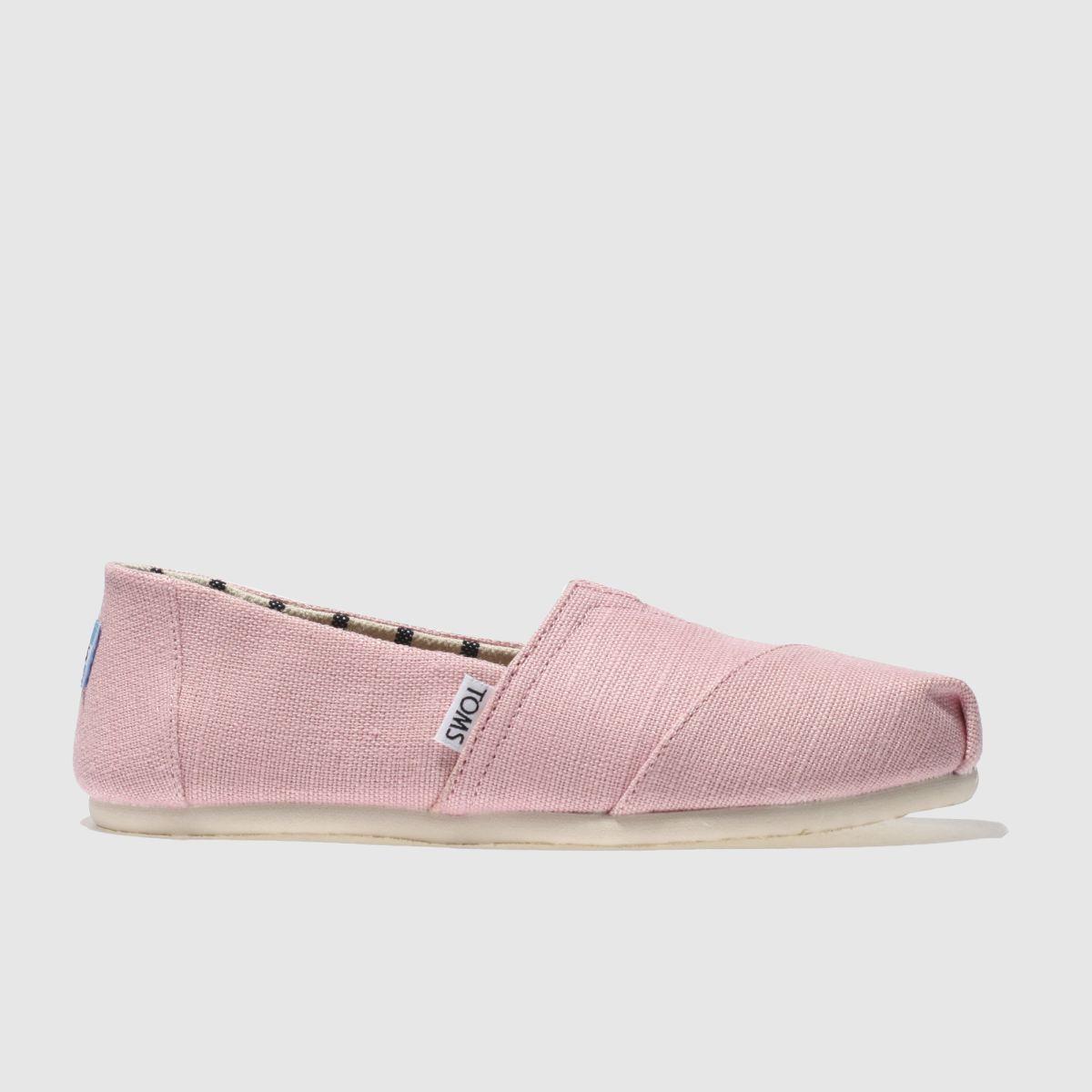Toms Pale Pink Alpargata Venice Flat Shoes