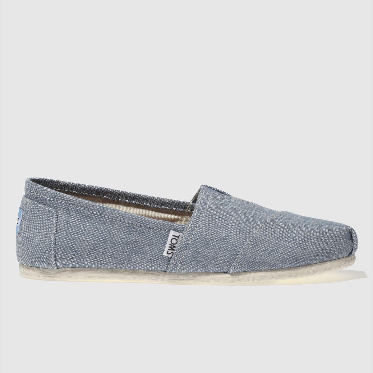 Toms Pale Blue Alpargata Flat Shoes