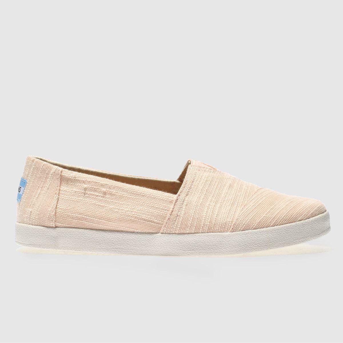 Toms Pale Pink Avalon Flat Shoes