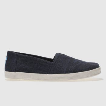 Toms Navy Avalon Womens Flats