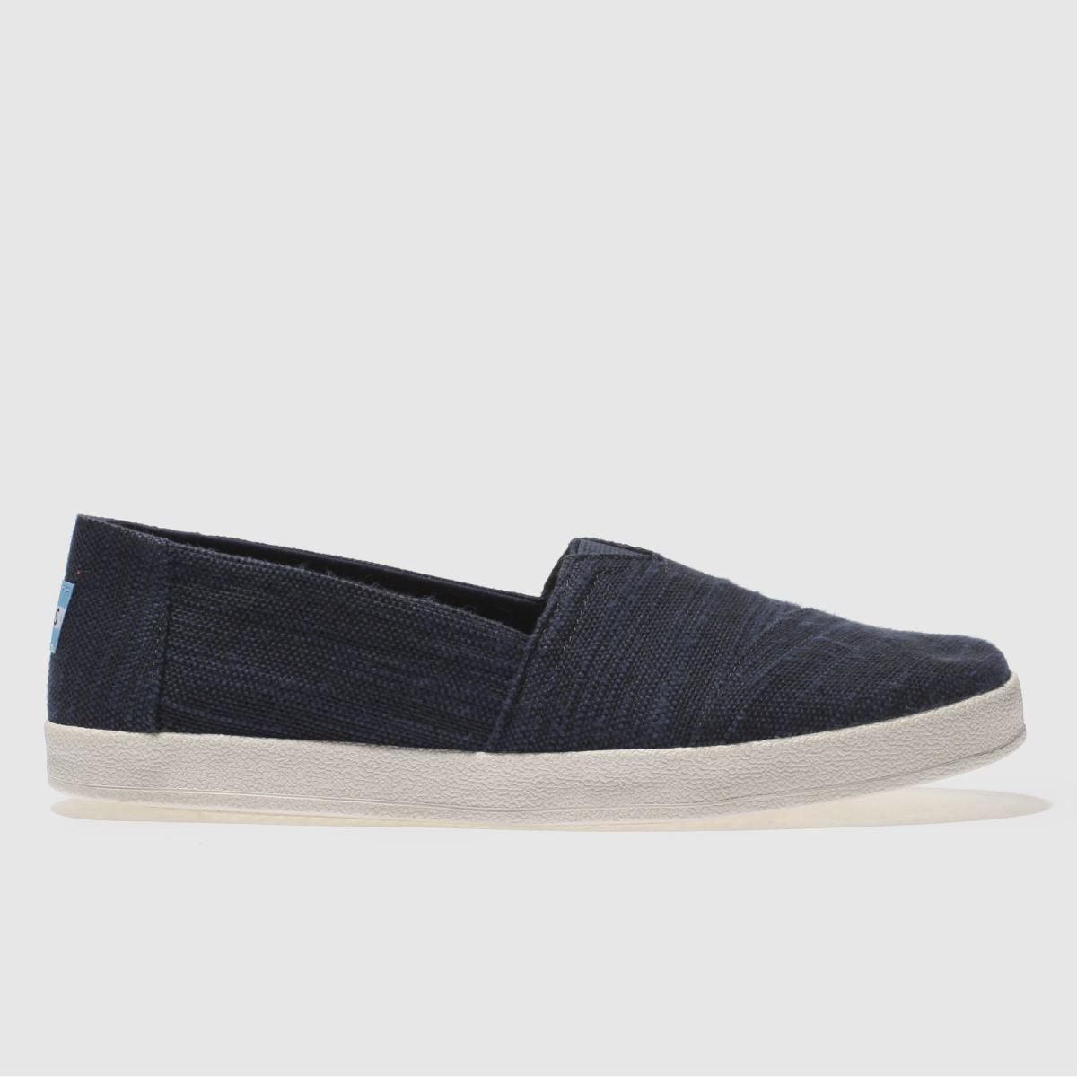 Toms Navy Avalon Flat Shoes