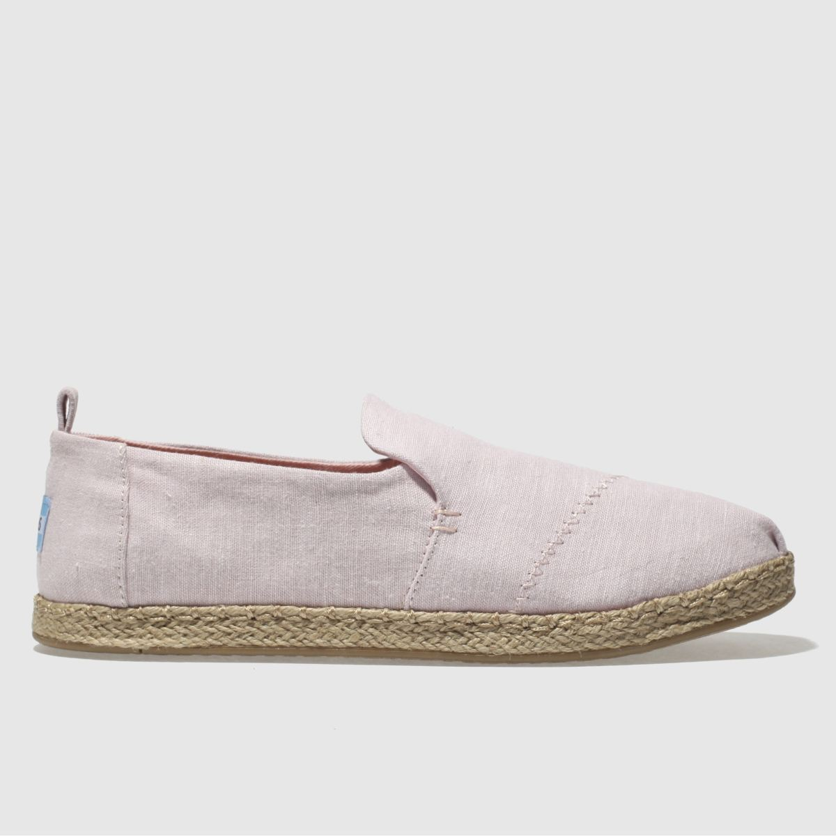 Toms Pale Pink Deconstructed Alpargata Flat Shoes