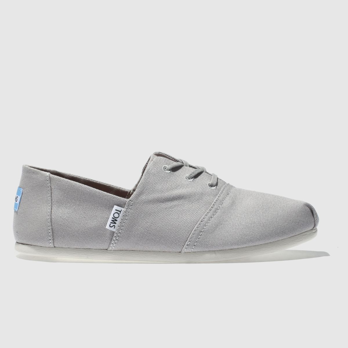 Toms Light Grey Hermosa Flat Shoes