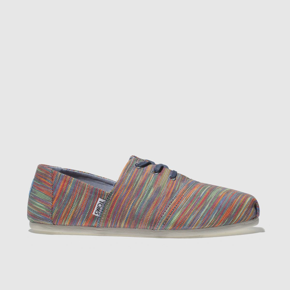 Toms Blue & Green Hermosa Flat Shoes