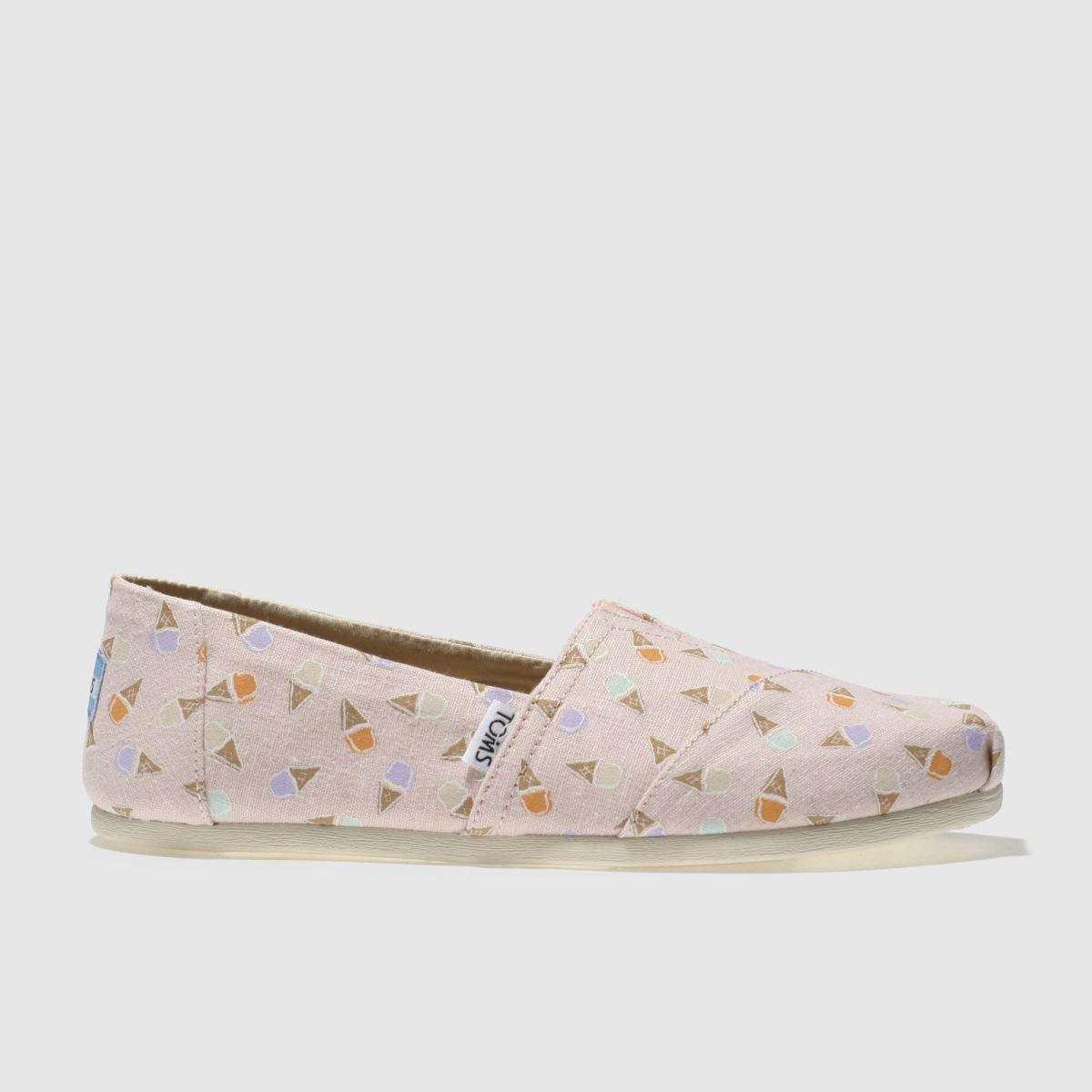 Toms Pale Pink Alpargata Ice Cream Cones Flat Shoes
