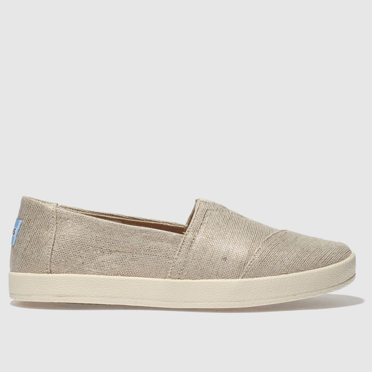 Toms Gold Avalon Flat Shoes