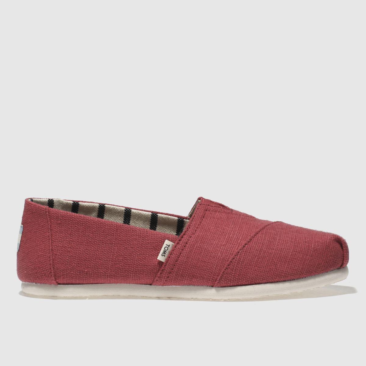 Toms Red Alpargata Venice Flat Shoes