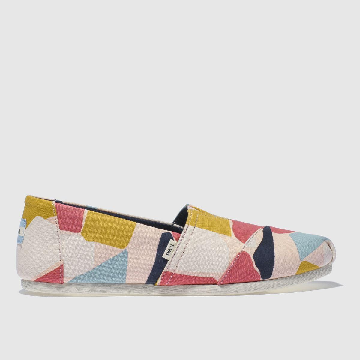 Toms Pink & Blue Alpargata Venice Flat Shoes