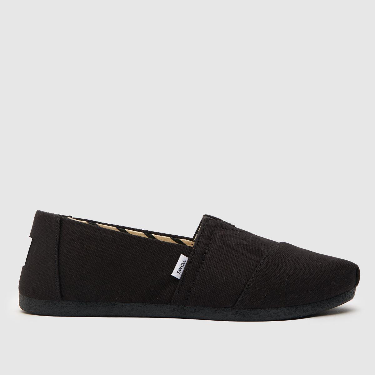 Toms Black Classic Slip Flat Shoes