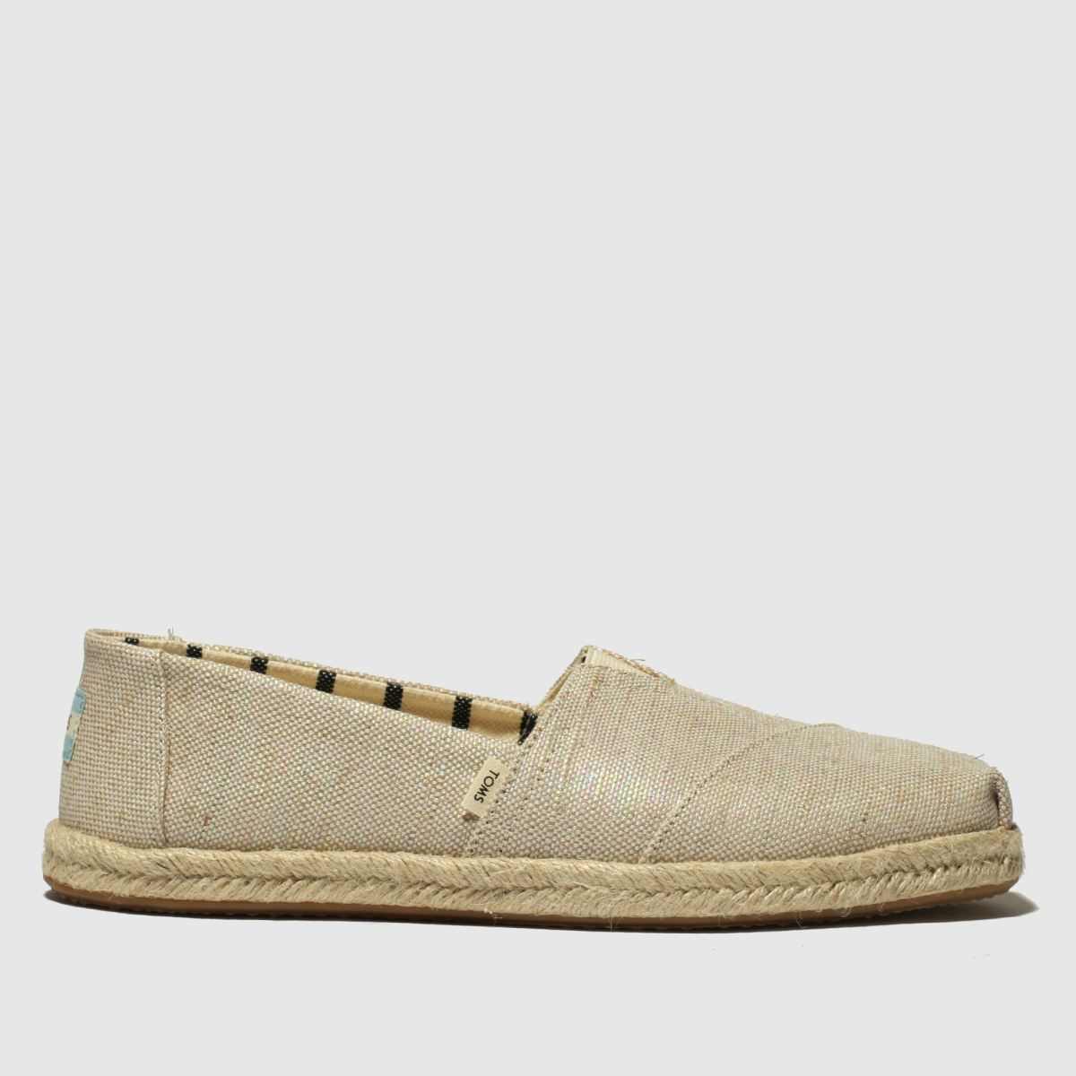 Toms Natural Alpargata Rope Sole Flat Shoes