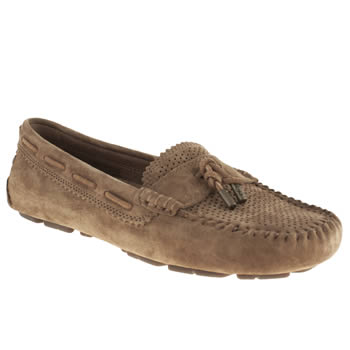womens ugg australia tan roni perf flat shoes