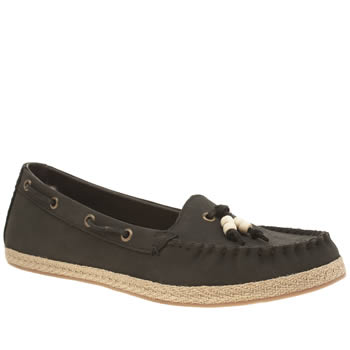 UGG BLACK SUZETTE FLAT SHOES