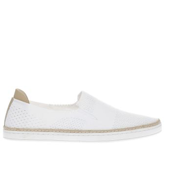 Ugg White Sammy Womens Flats