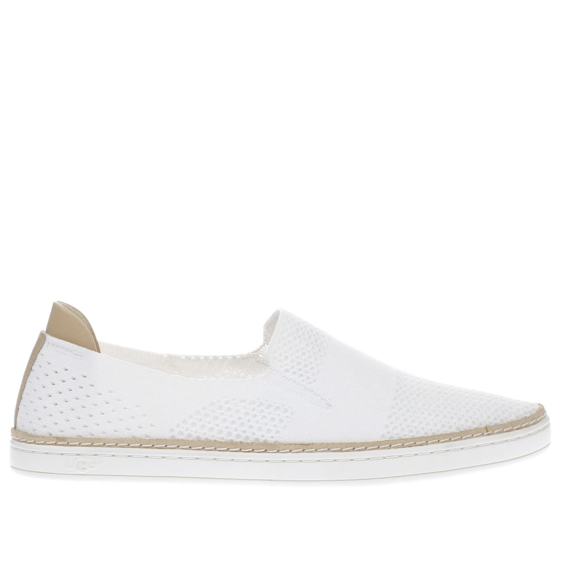 ugg white sammy flat shoes