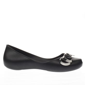 Zaxy Black & Silver LUXURY RIBBON Flats