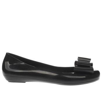 Zaxy Black Pop Bow 2 Womens Flats