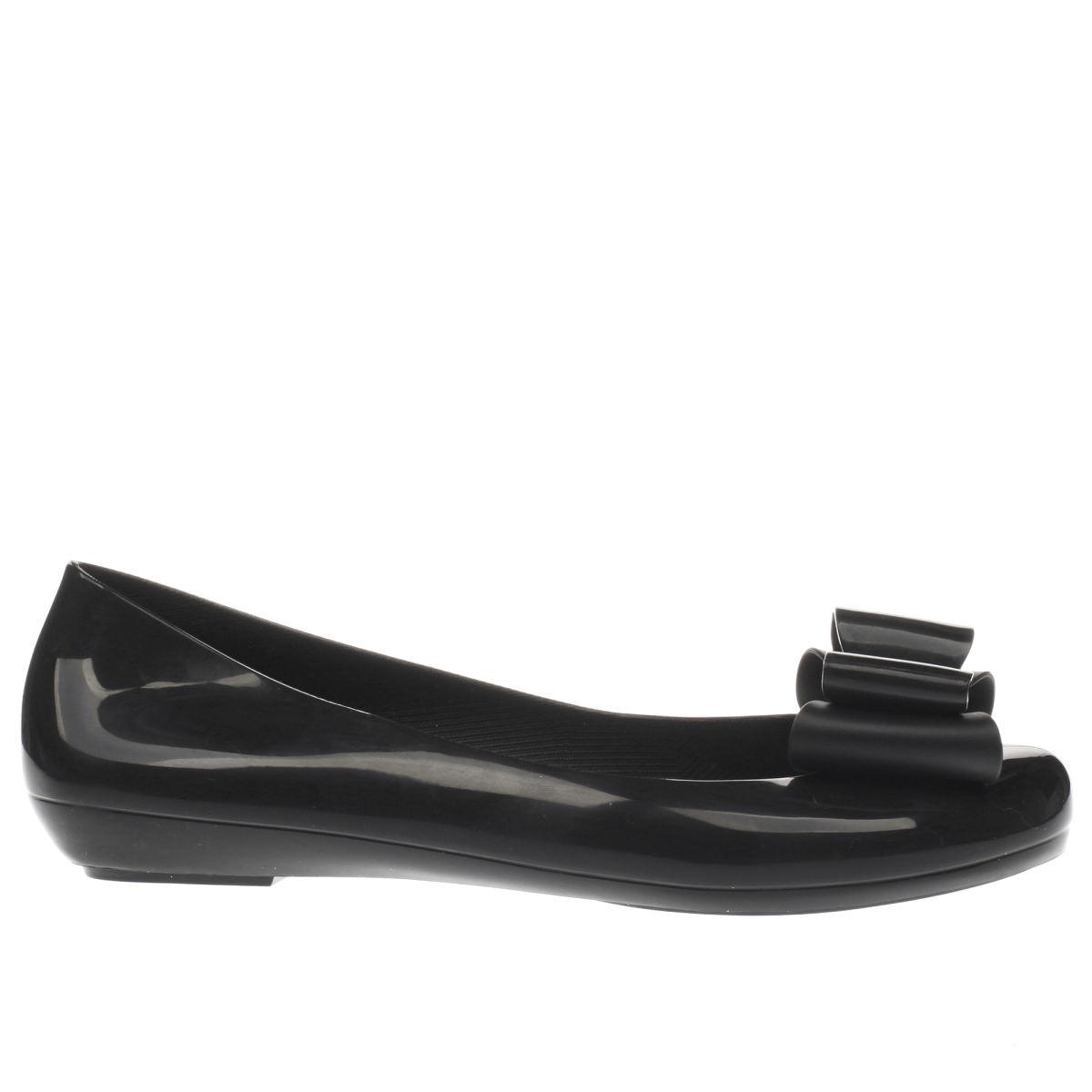 zaxy black pop bow 2 flat shoes