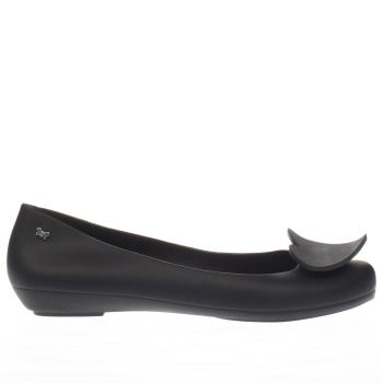 Zaxy Black Pop Heart Womens Flats