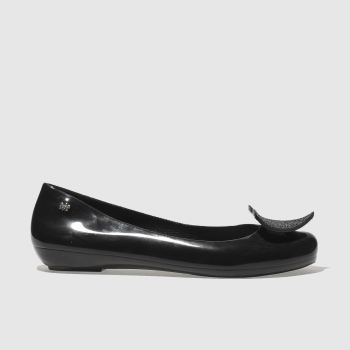 Zaxy Black Pop Heart Luxe Womens Flats