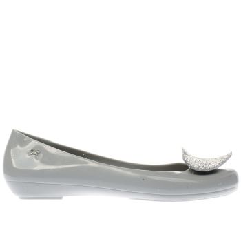 Zaxy Grey Pop Heart Luxe Womens Flats