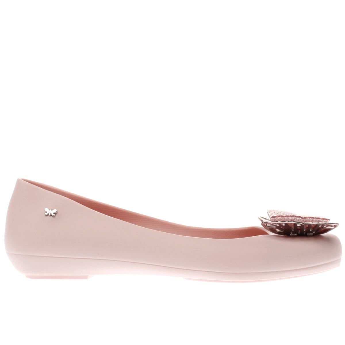 zaxy pale pink butterfly luxe flat shoes