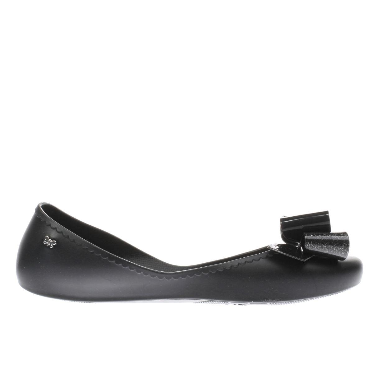 zaxy black start romance ii flat shoes