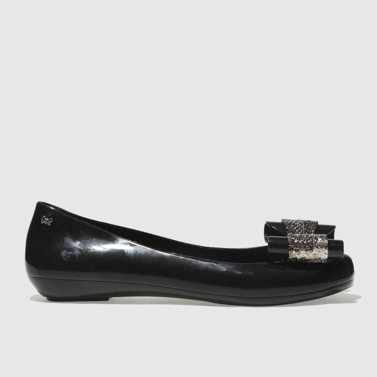 Zaxy Zaxy Black & Silver Pop Glam Flat Shoes