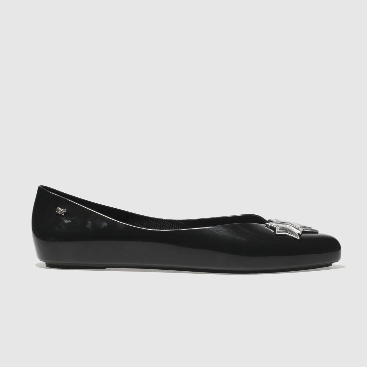 Zaxy Zaxy Black & Silver Chic Flat Shoes