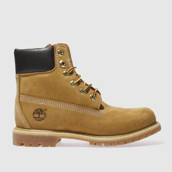 Womens Timberland Natural 6 Inch Premium Boots