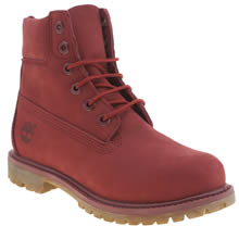 Timberland Red 6 Inch Premium Womens Boots